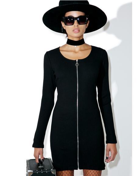 Hidden Eve Zipper Dress