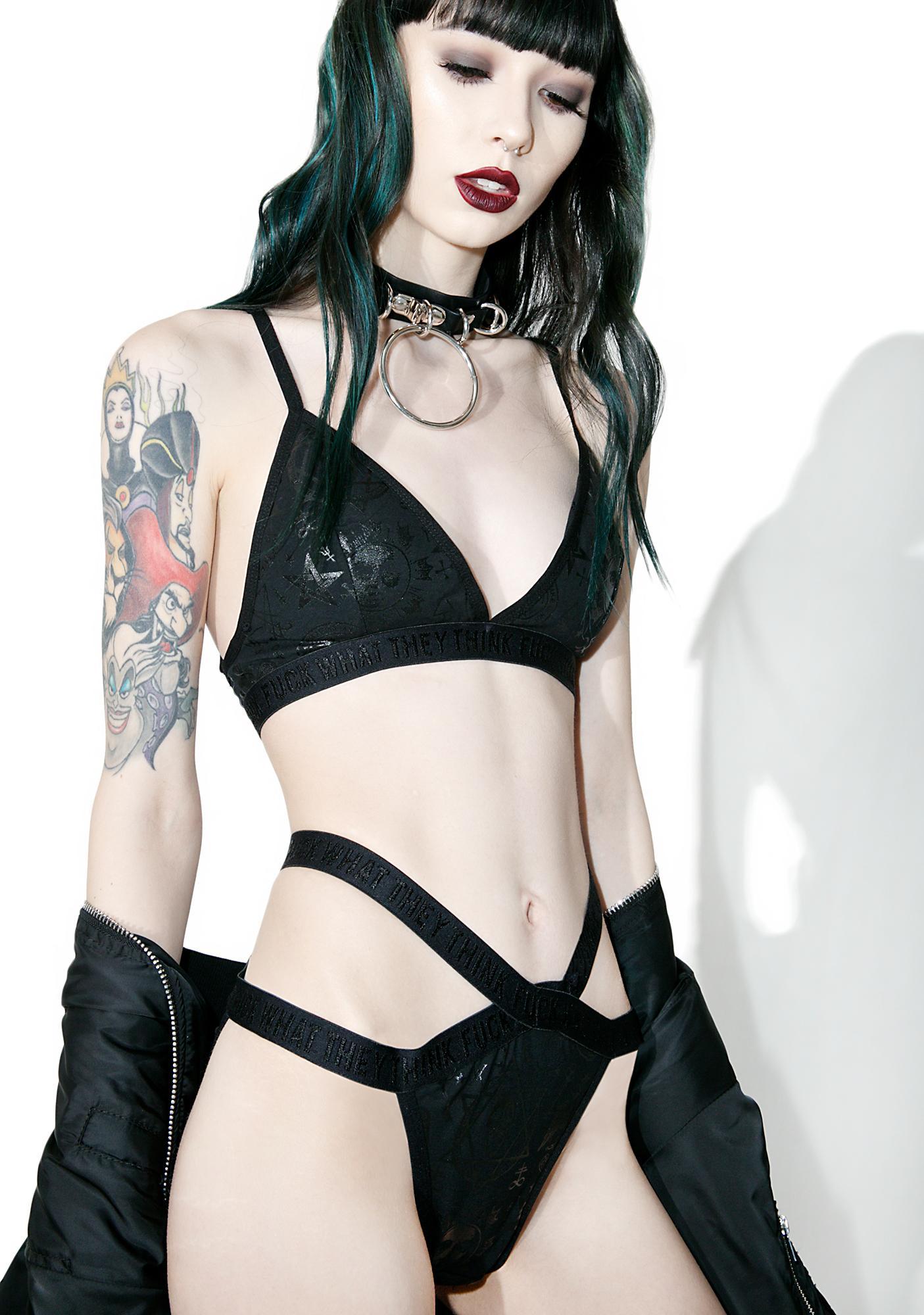 Killstar Demonica Midnight Workout Bralette