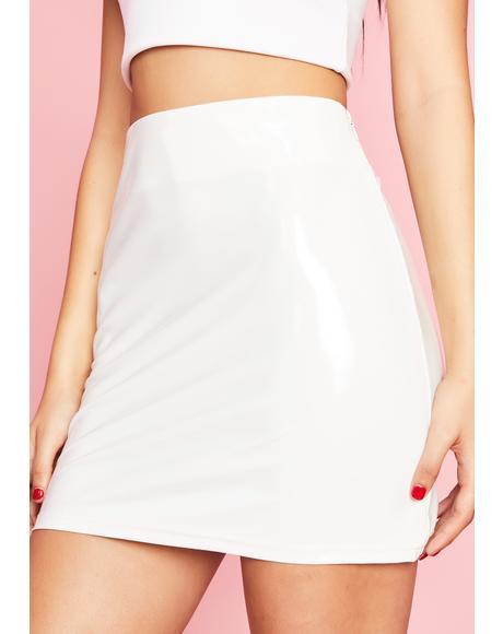 Bawdy Baby Patent Skirt