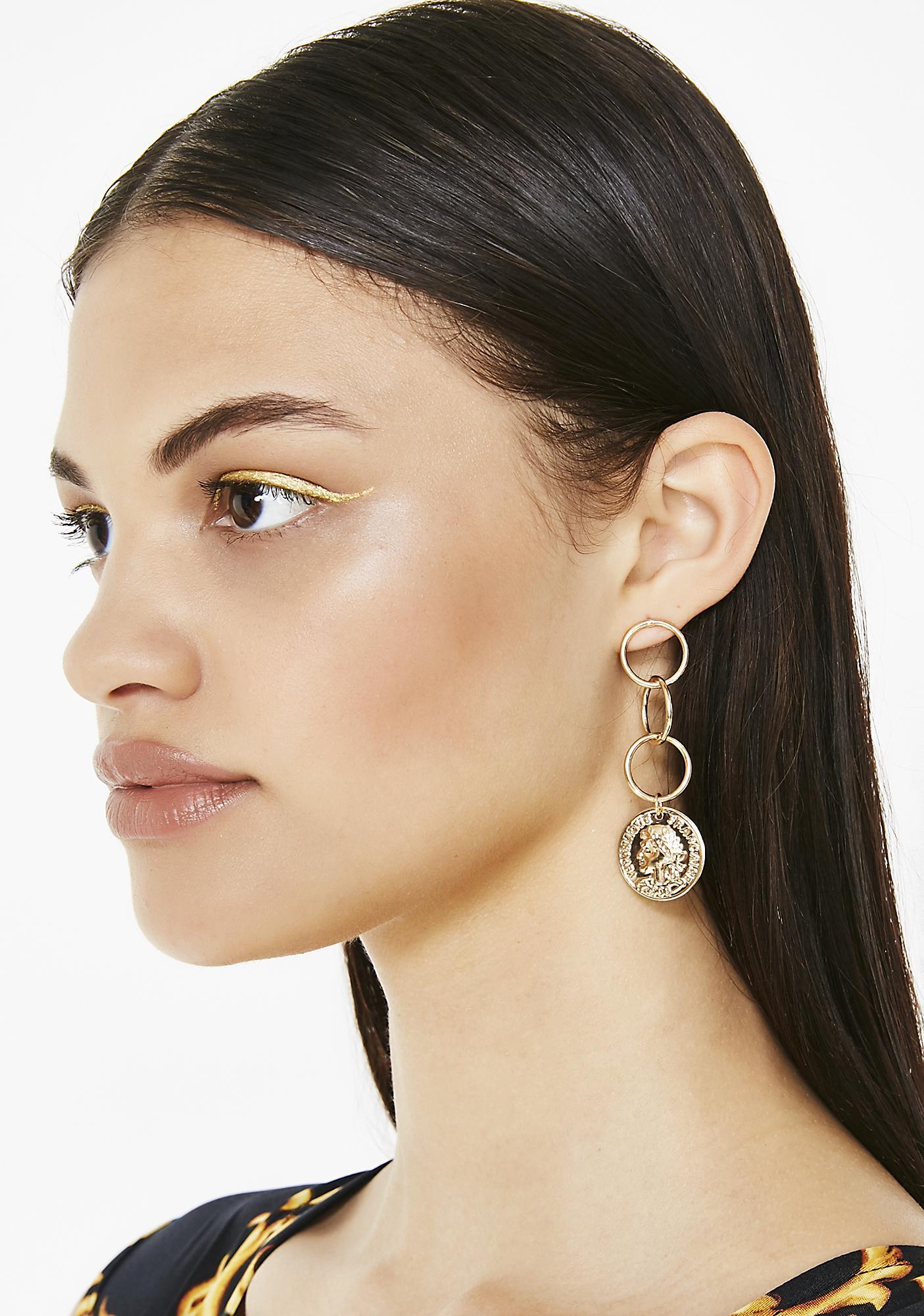 Flip A Coin Dangle Earrings