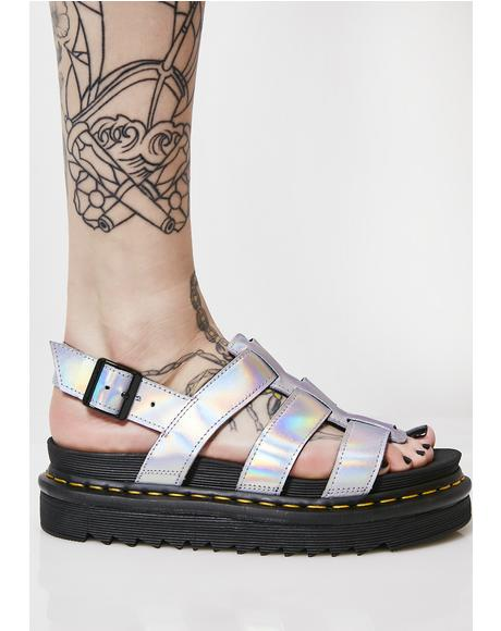 Lazer Yelena Metallic Sandals