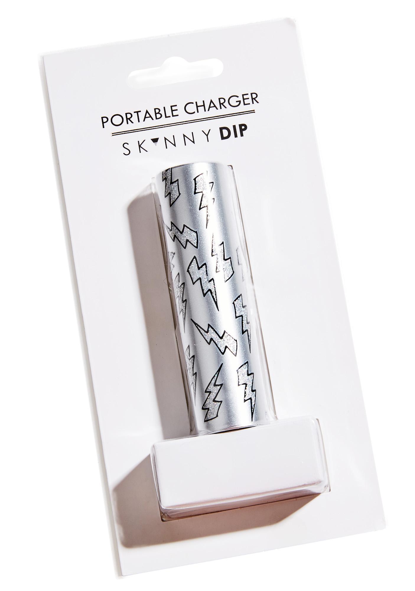 Skinnydip Lightning Bolt Portable Charger