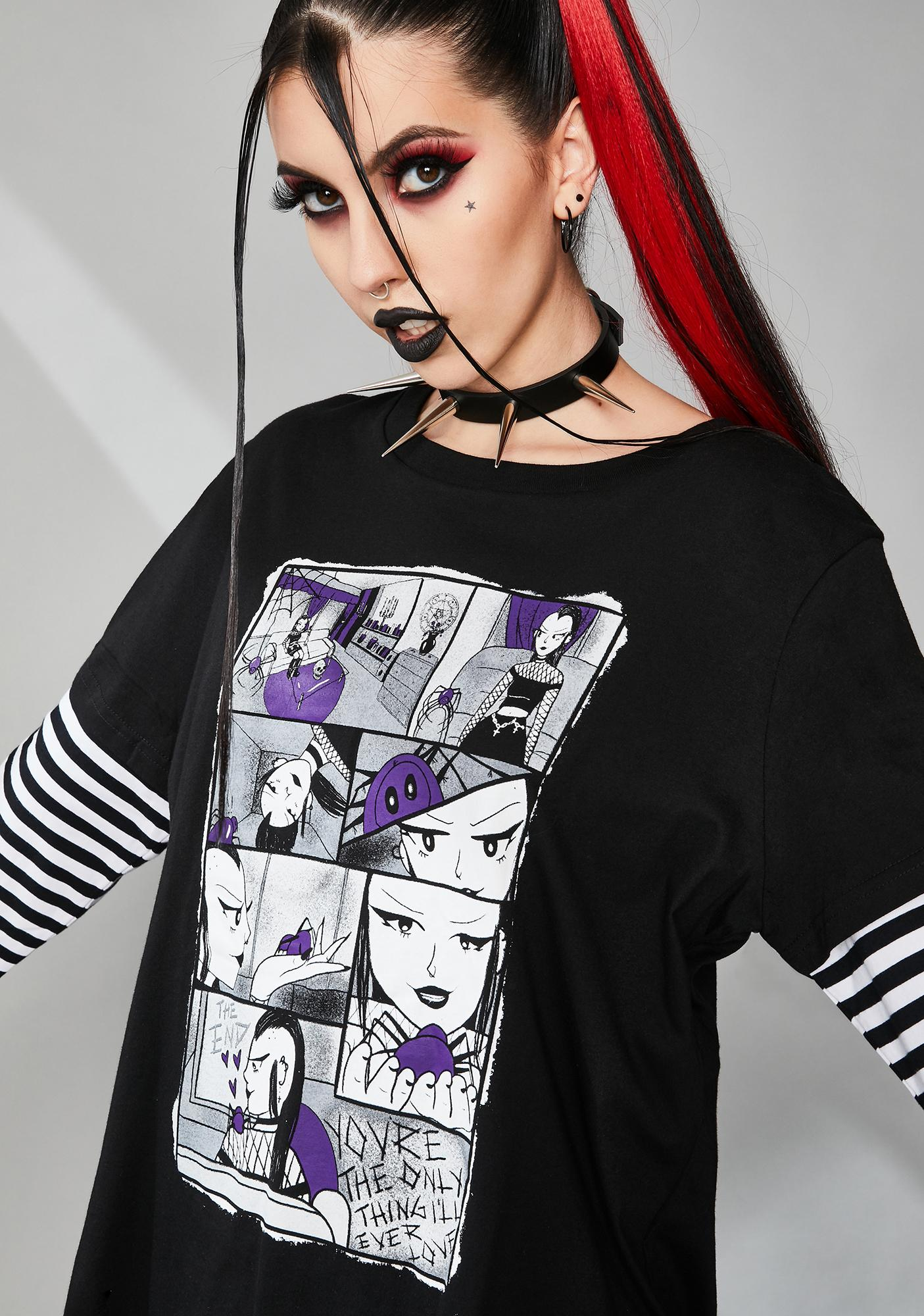 Widow Tale Of Two Fiends Layered Graphic Tee
