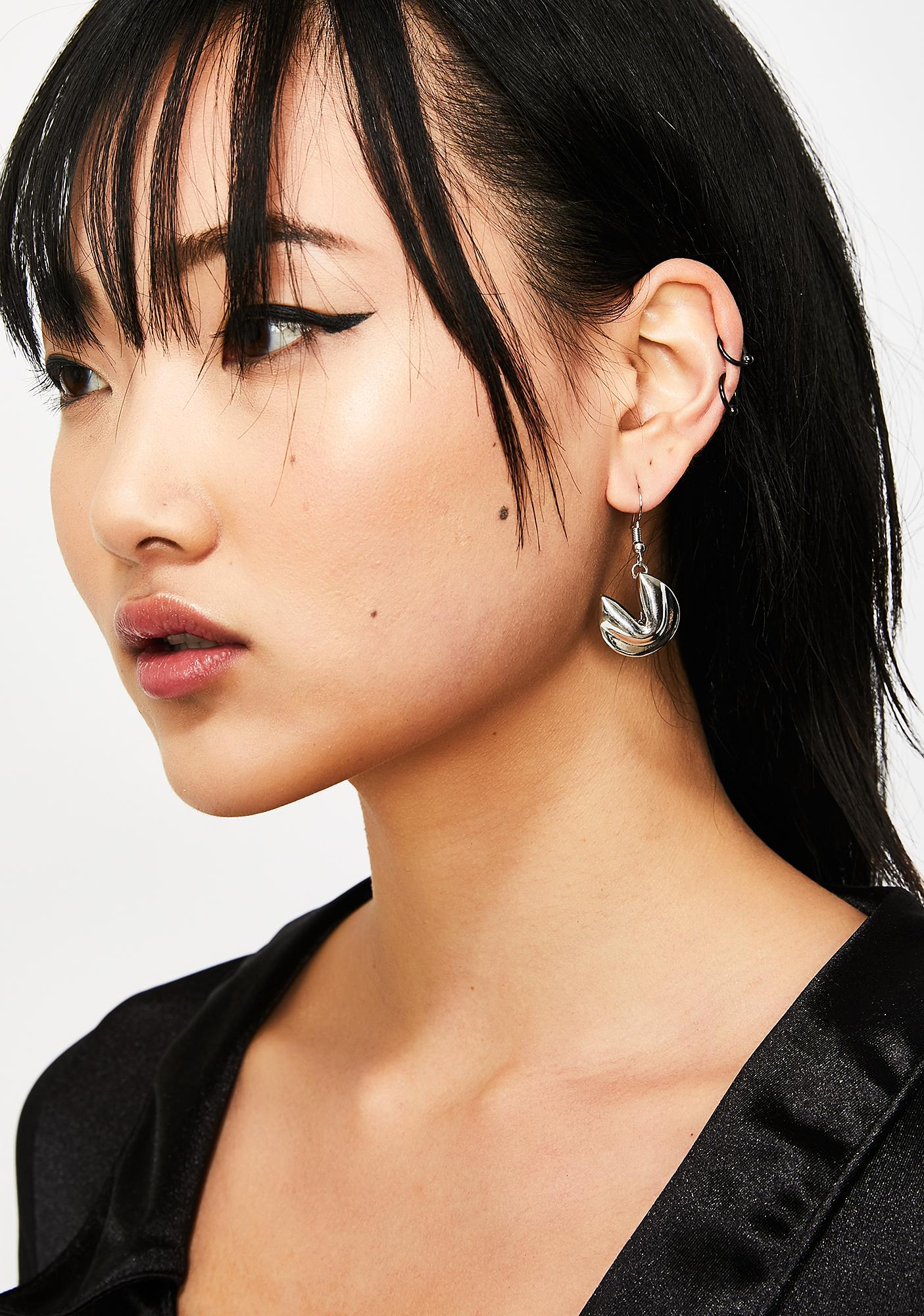 Flashy Fortune Cookie Earrings by Ciel