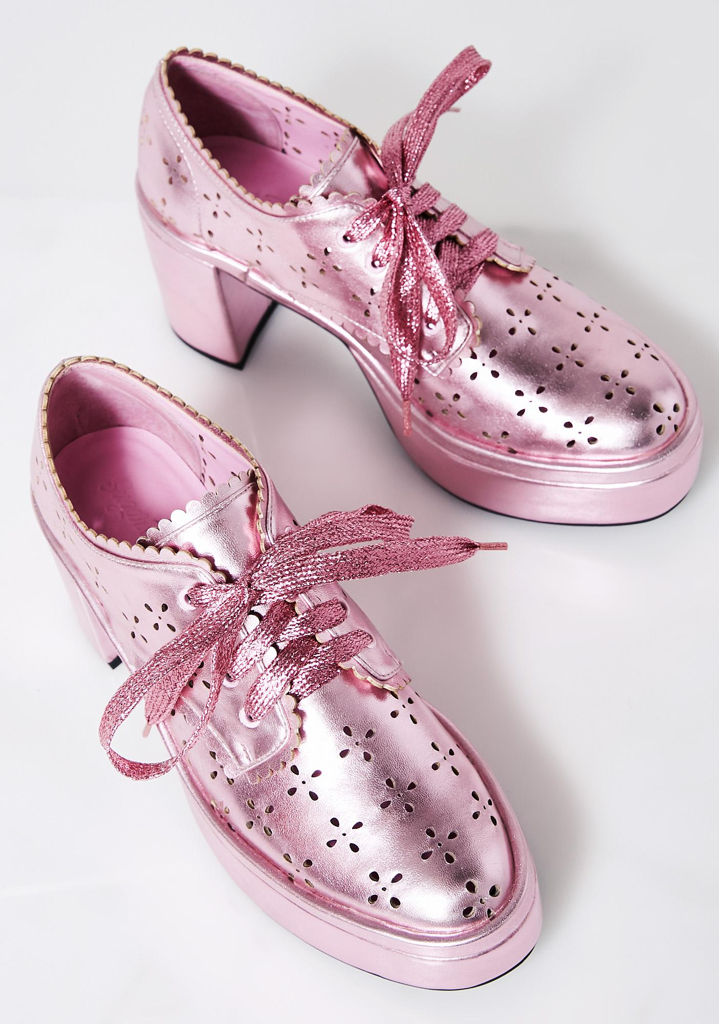 Sugar Thrillz Prairie Scalloped Oxfords