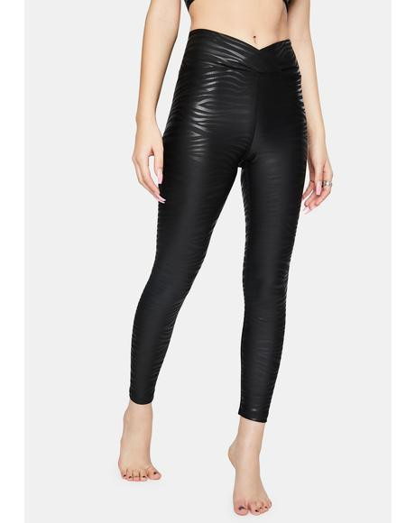 Black Tiger Foil Veronica Leggings