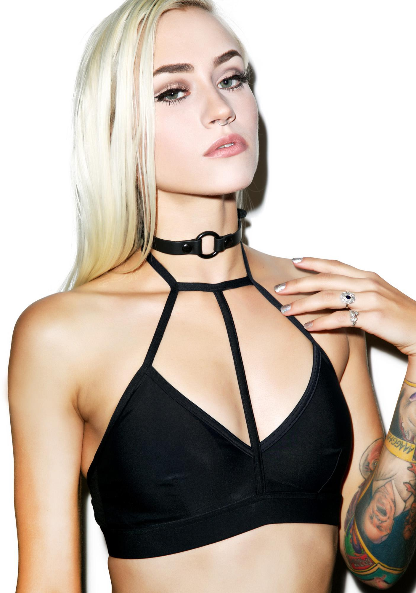 Disturbia Choker Swim Top