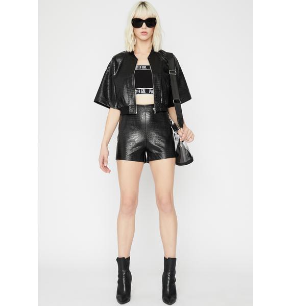 Haute Fashion Embossed Shorts
