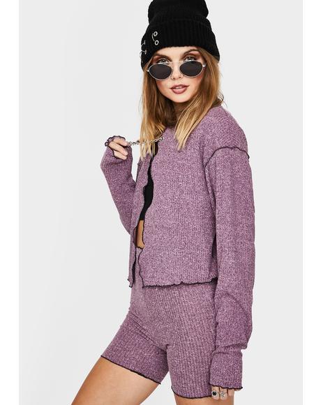 Paste Drop Tie Knit Cardigan