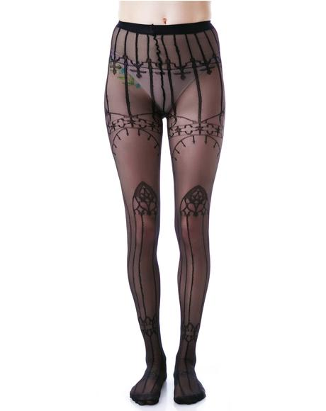 Cathedral Pentagram Tights