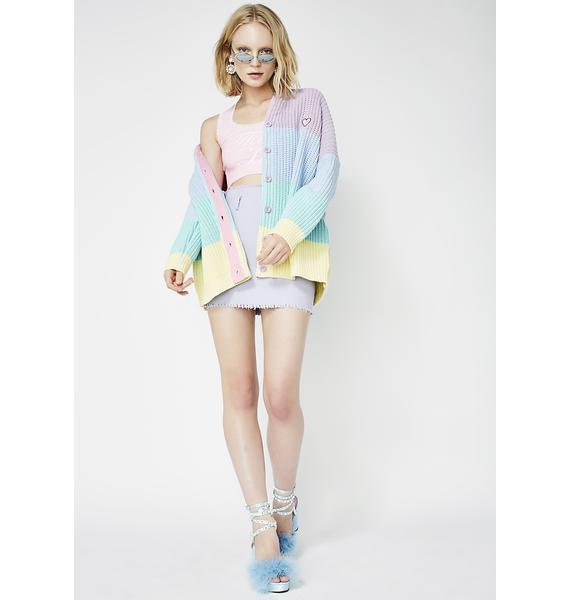 Lazy Oaf Pastel Rainbow Cardigan