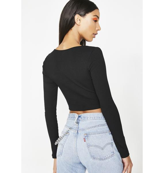 Onyx Answer My Call Crop Top