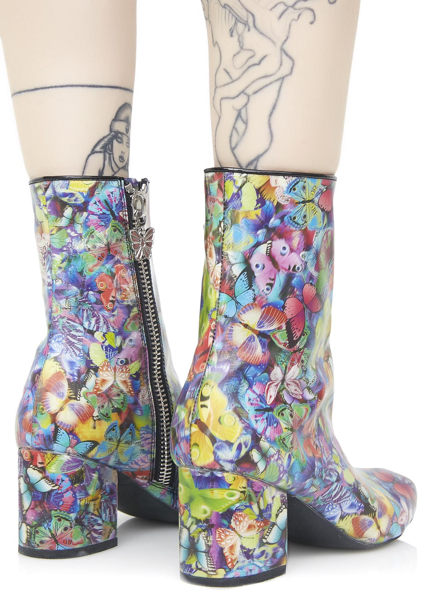 Current Mood Holographic Butterfly Boots