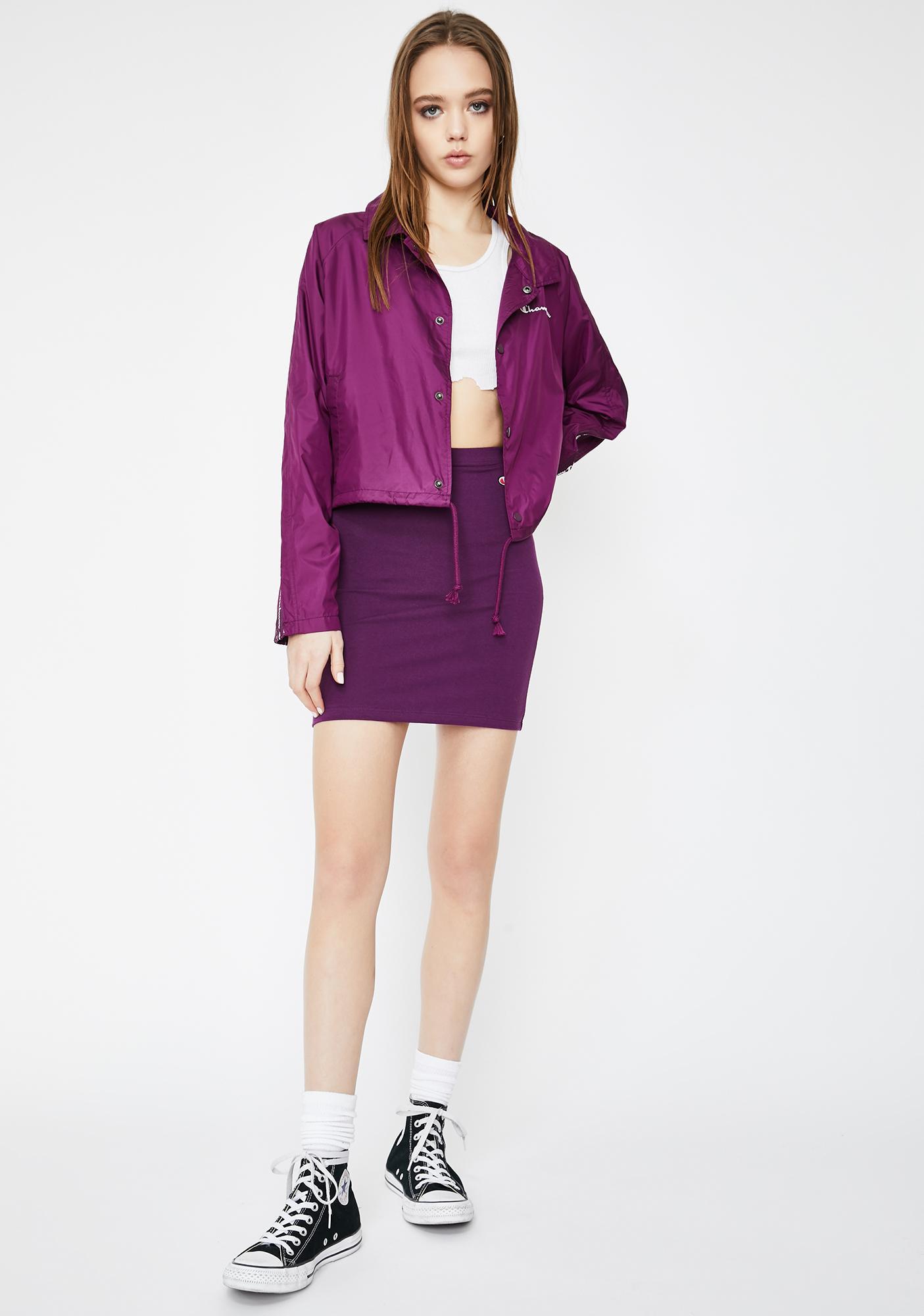 Champion Venetian Purple Cropped Coaches Jacket