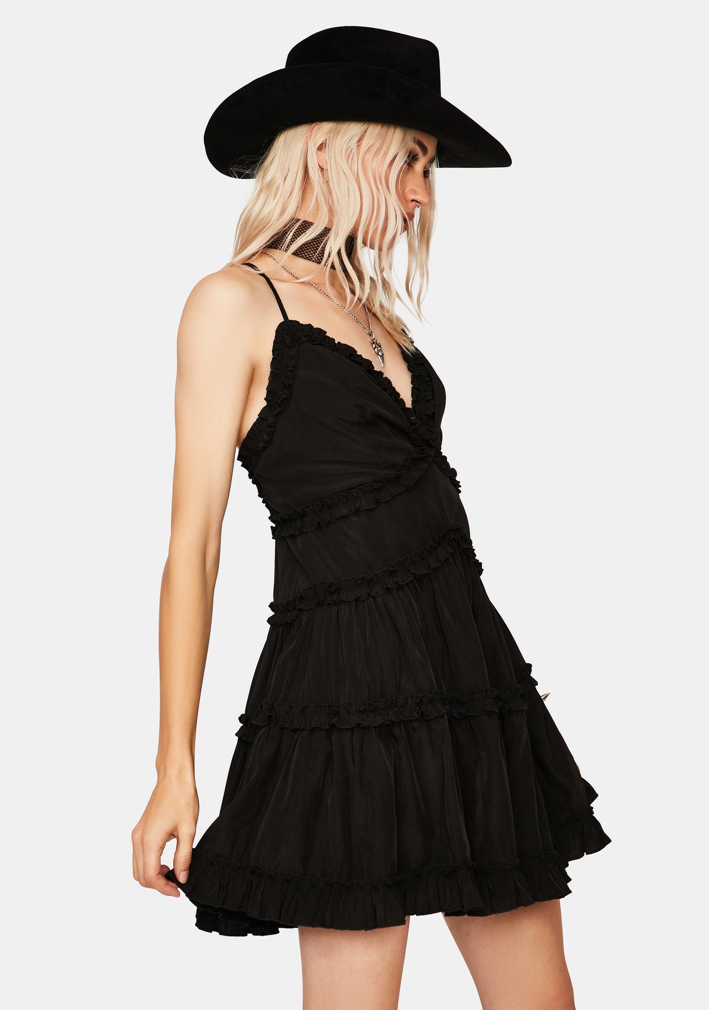 Night Ruffle Me Up Mini Dress