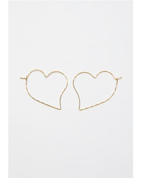 Twisted Luv Heart Earrings