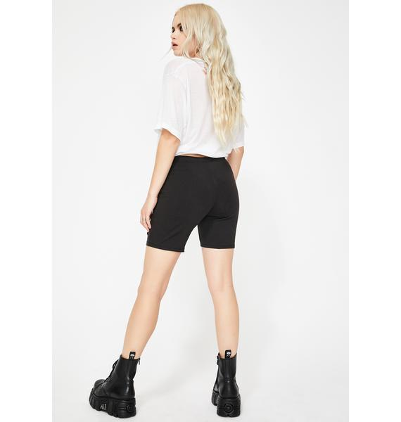 BROKEN PROMISES CO Love Sick Biker Shorts