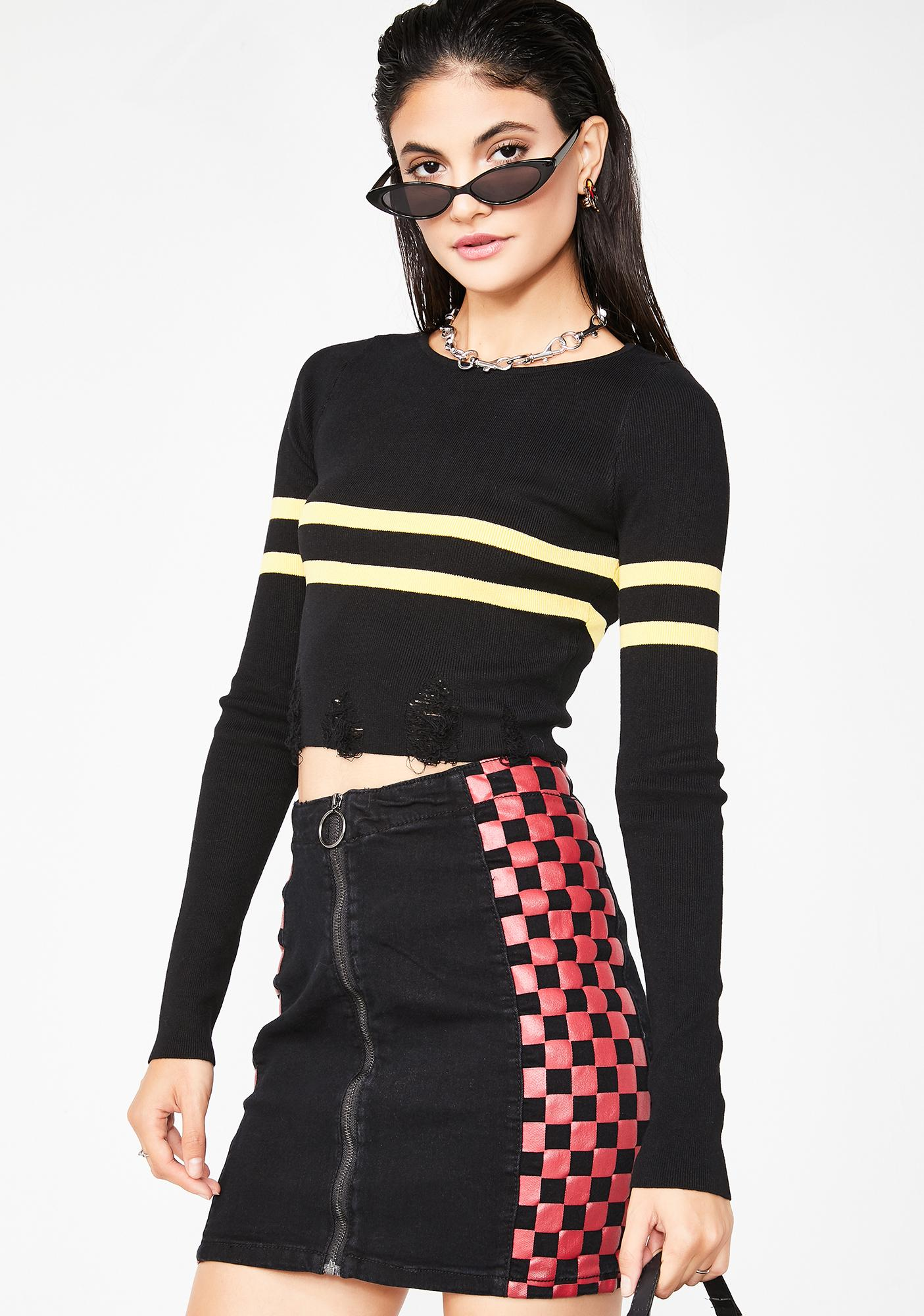 Slow It Down Checkered Skirt