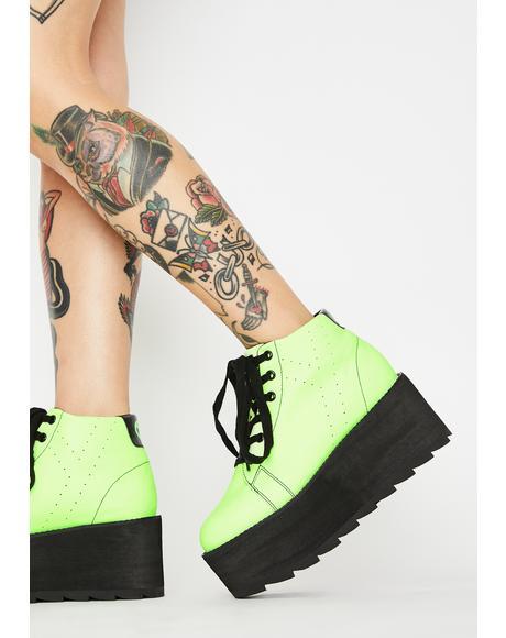 Lala Glow In The Dark Platform Sneakers