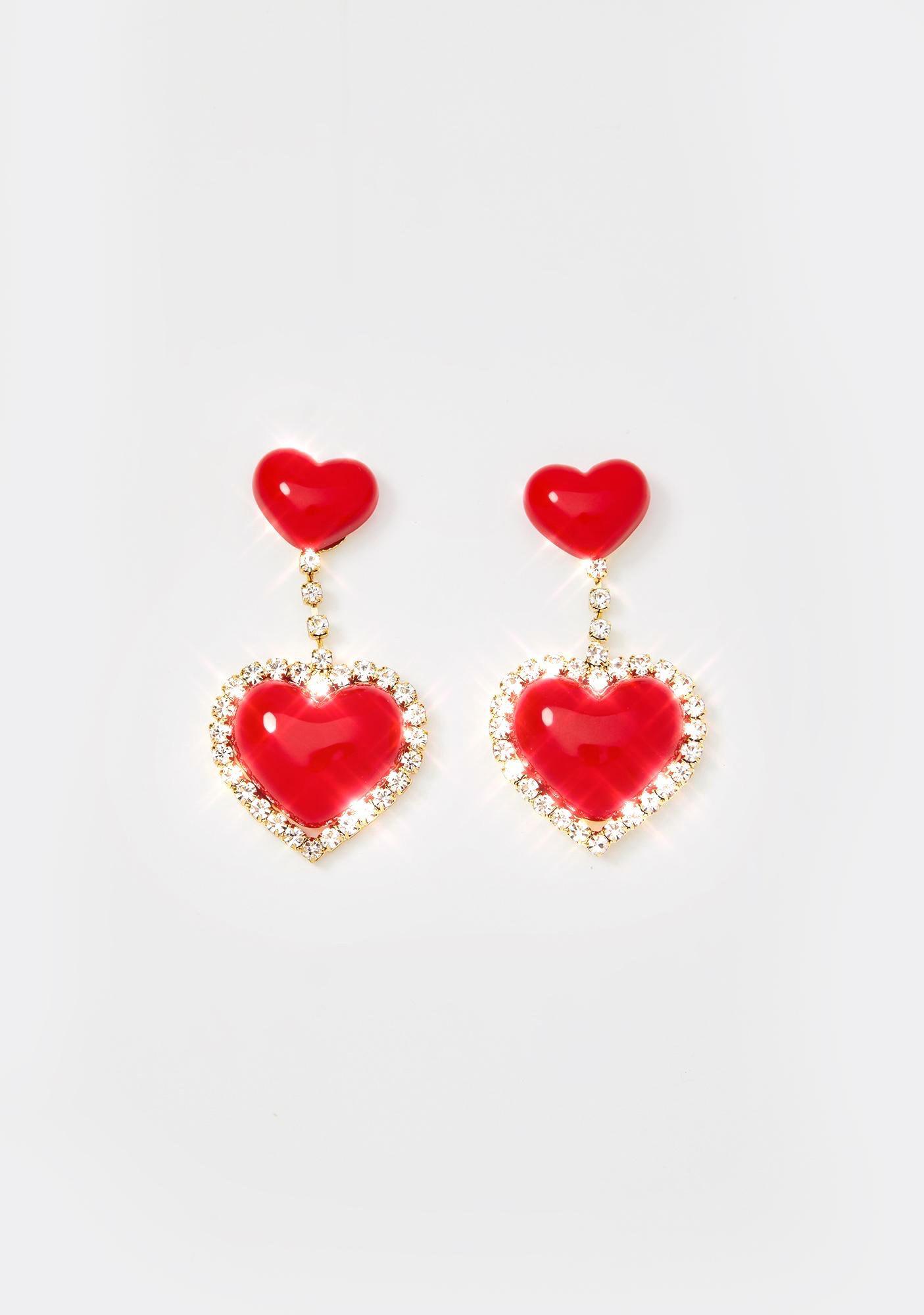 Angelic Affairs Heart Earrings