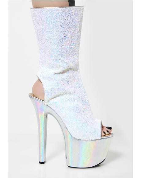 Madame Hologram Platform Heels