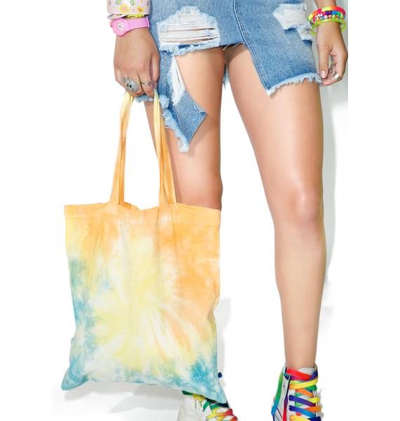 Good Day Sunshine Tie Dye Tote