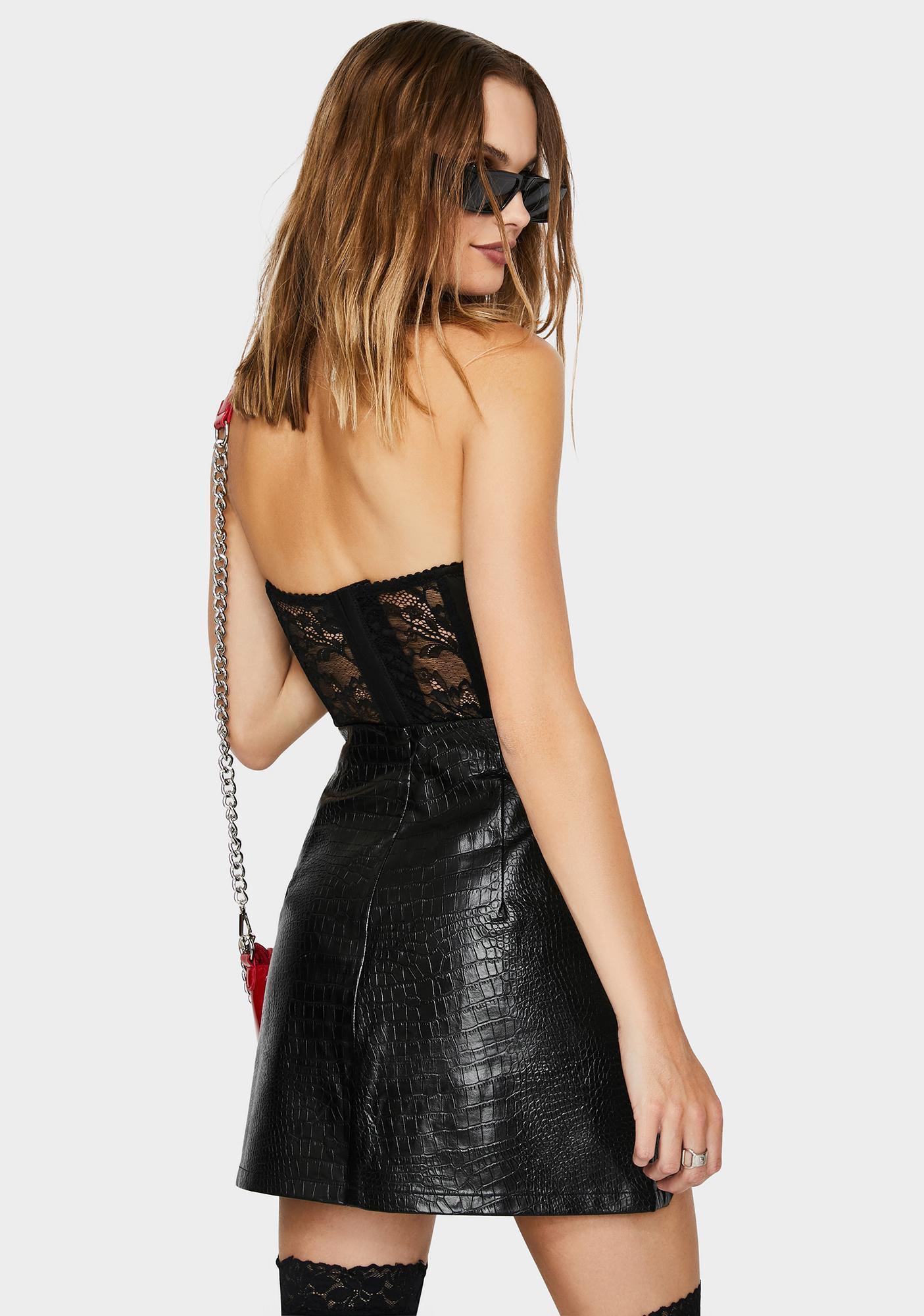 THE KRIPT Thorn Reptile Mini Skirt