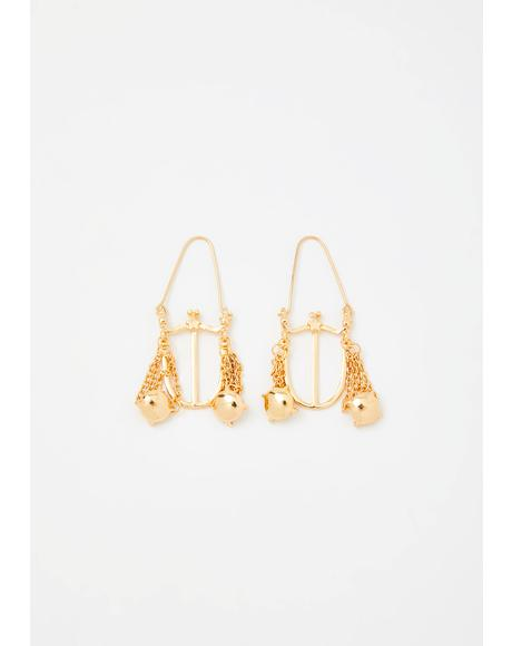 Loyal Libra Drop Earrings