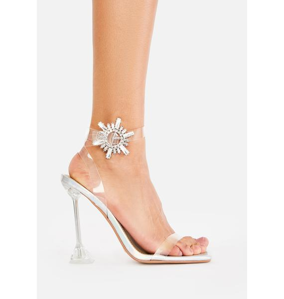 Icy Prized Possession Clear Heels