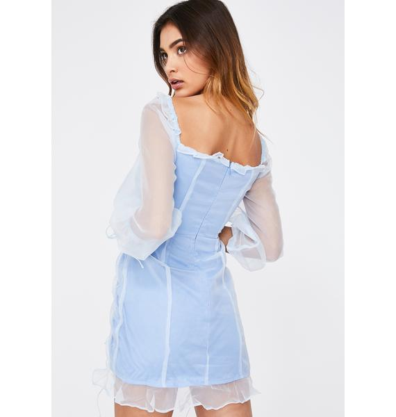 Lioness Baby Blue Feng Shui Mini Dress