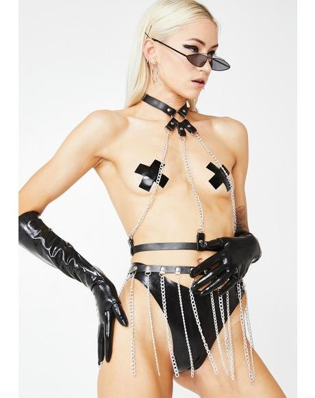 Mistress Mystic Latex Panties N' Pasties Set