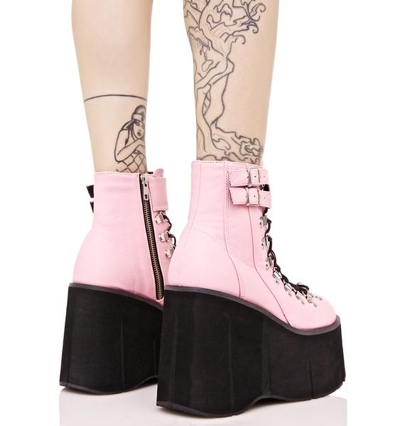 Demonia Sweetie Kera Lace-Up Platform Boots