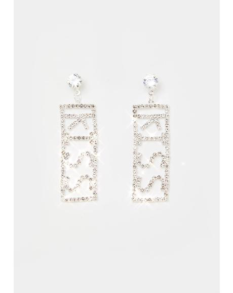 Love On Ya Rhinestone Earrings