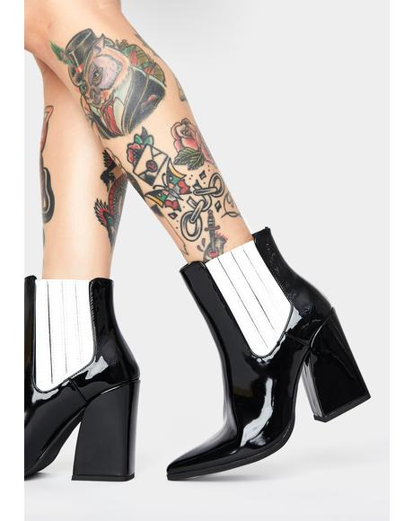 Patent Brianna Ankle Boots