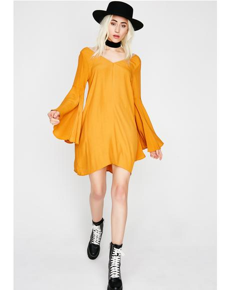 Sweet Hunnie Bell Sleeve Dress