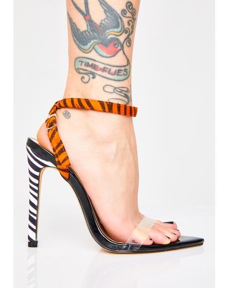 Safari Pointed Strappy Heels