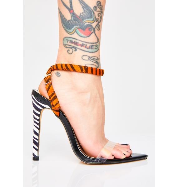 Public Desire Safari Pointed Strappy Heels