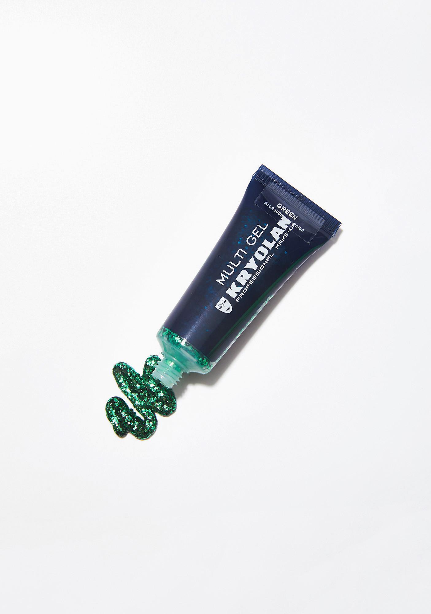 Kryolan Pastel Green Multi Gel Glitter