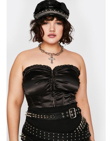 Gonna Pick Ur Poison Satin Corset
