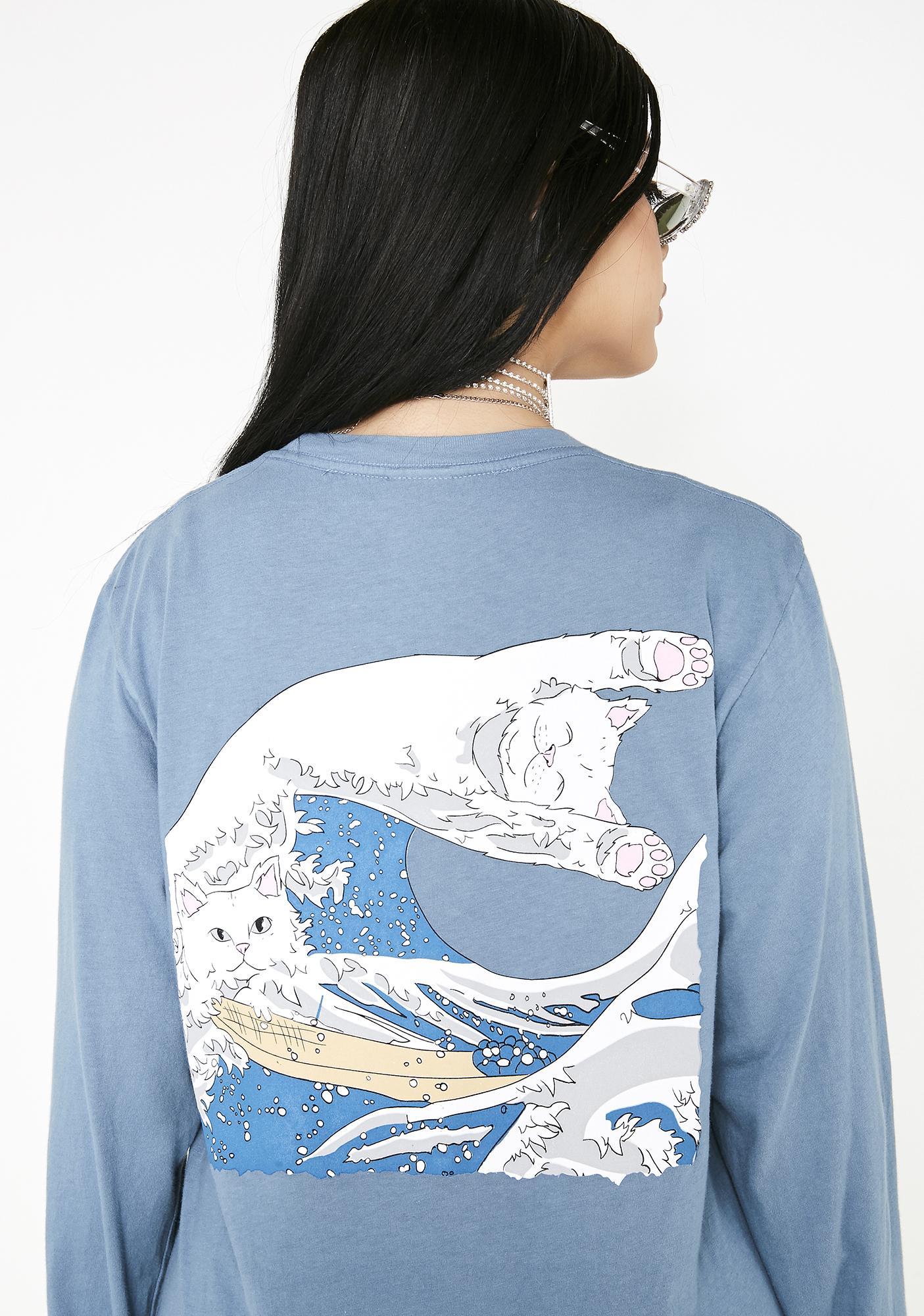 RIPNDIP Great Wave Long Sleeve