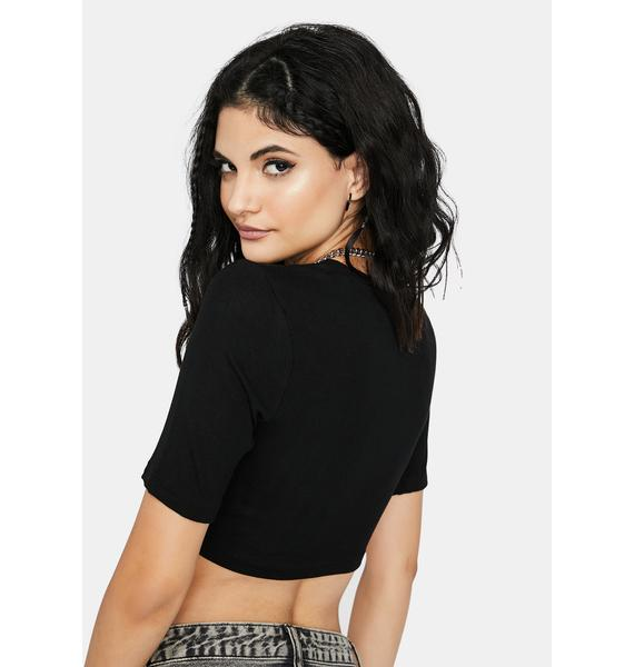 Made For U Ruched Front Crop Top