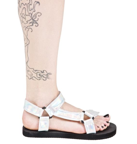 O Mighty Hologram Velcro Sandals