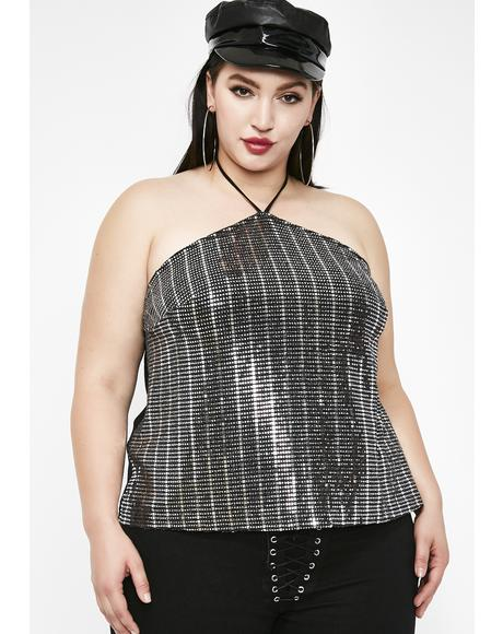 Disco Bby Sequin Top