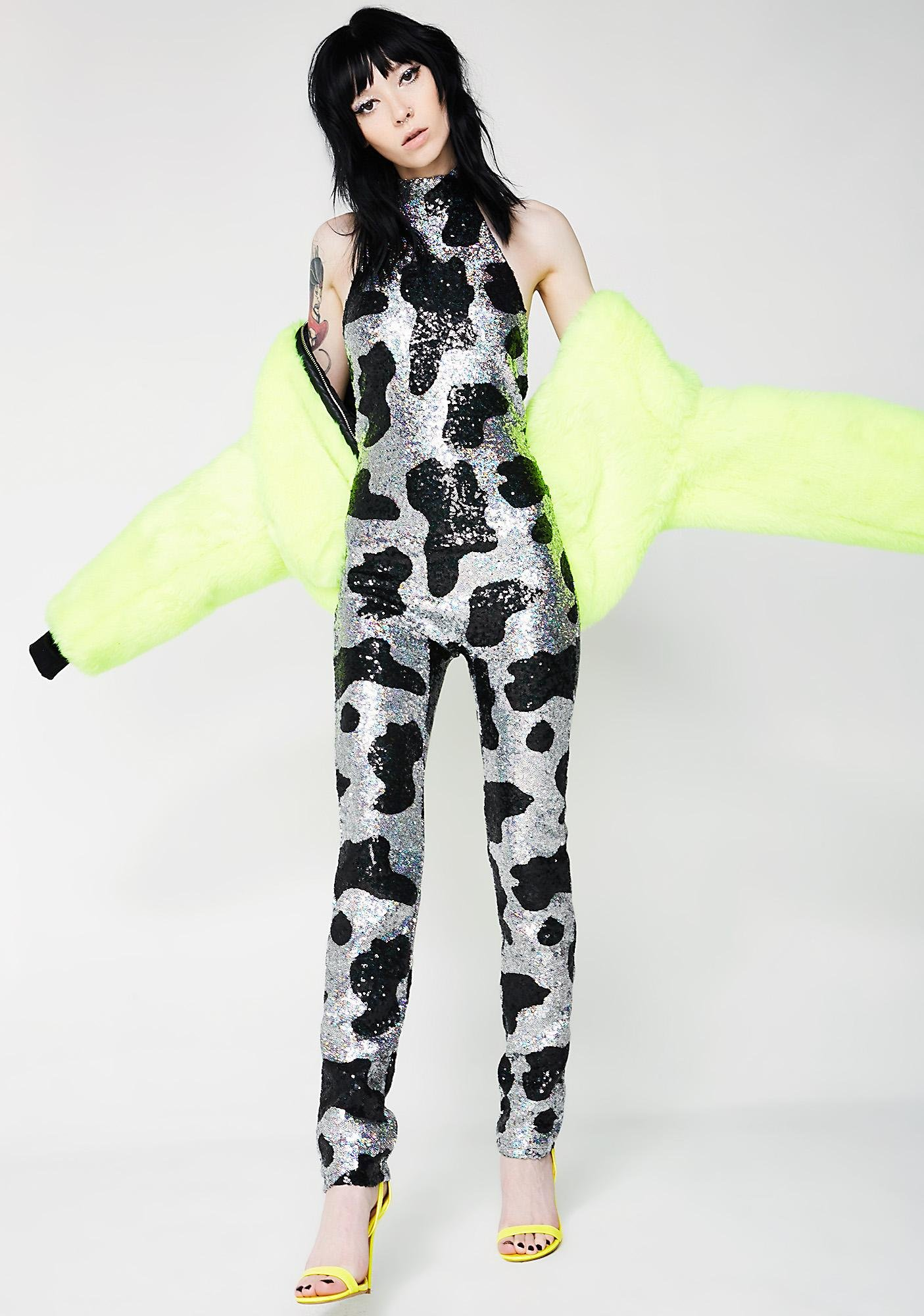 Jaded London High Neck Catsuit
