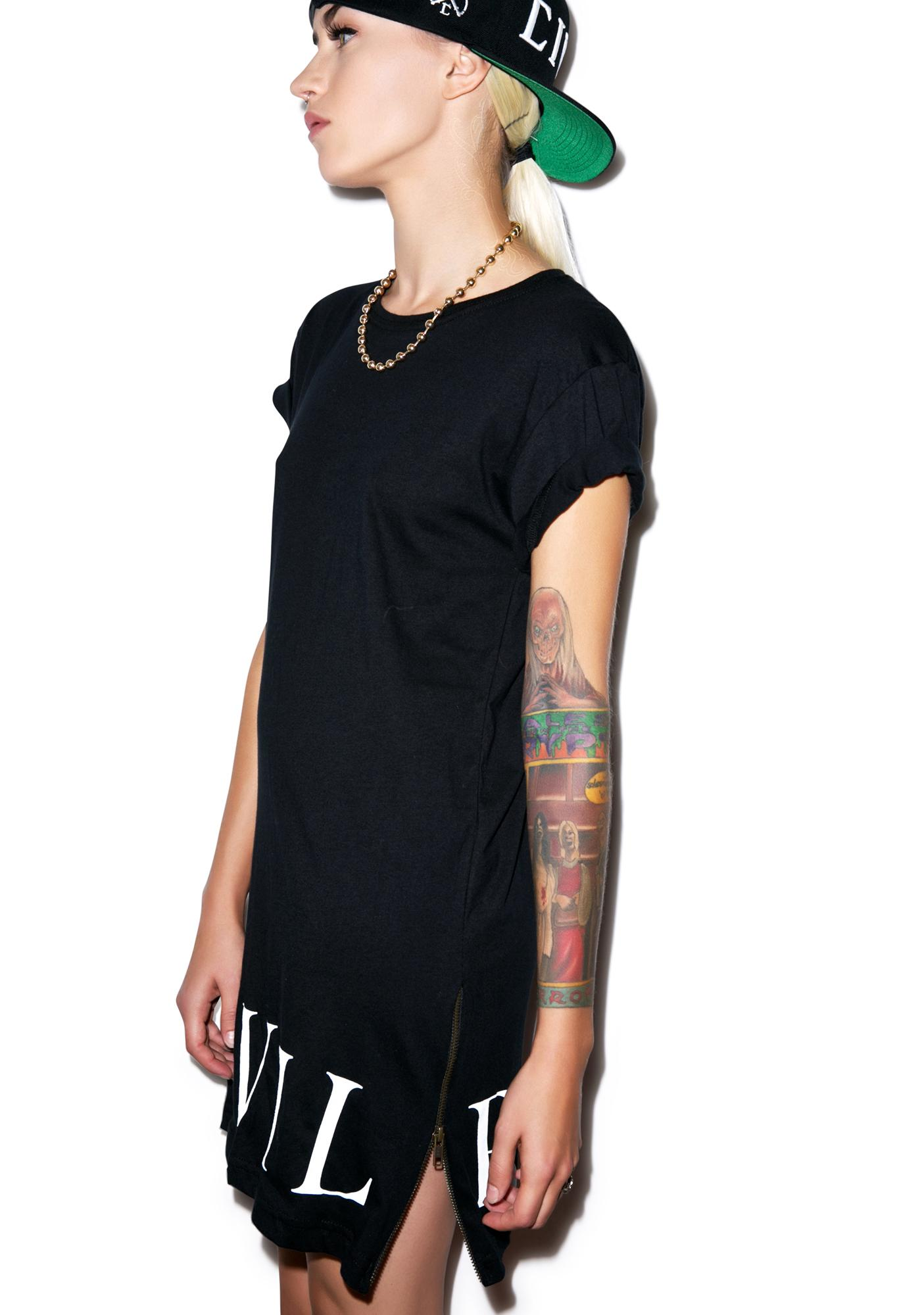 Civil Clothing Civil Bottom Side Zip Long Tee
