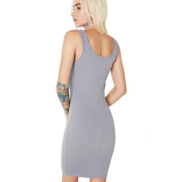 Misty-Eyed Lace-Up Dress