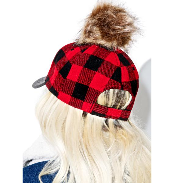 plaid pom hat dolls kill