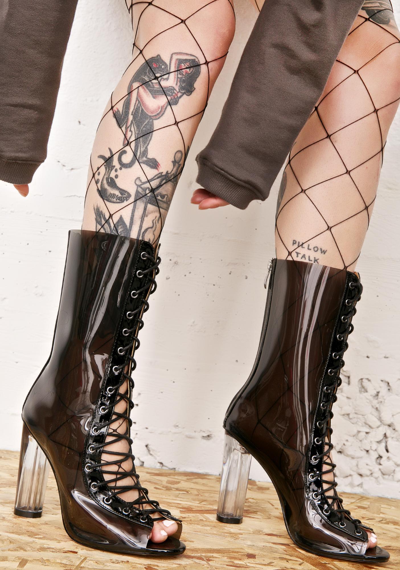 Scorpio Smoke Lace-Up Boots