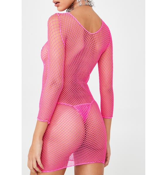 Sweet Eternal Nox Fishnet Dress