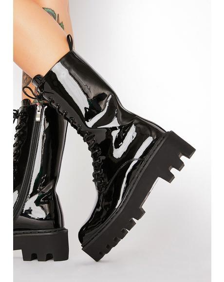 Unforgiven Foe Patent Boots